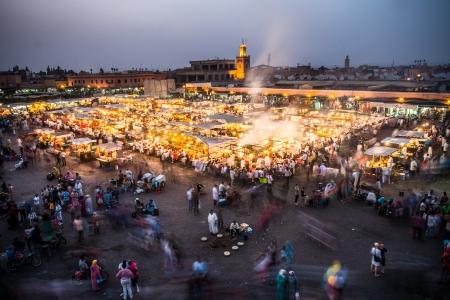 The famous theathre of Djemaa El Fna in Marrakech