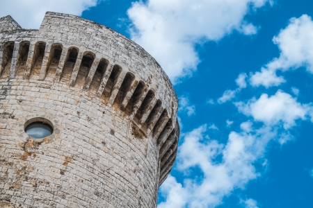 conversano: The tower of Luxembourg, in Conversano, south of Italy Stock Photo
