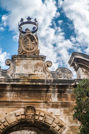 conversano: Portal in the old town of Conversano, Italy Editorial