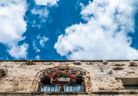 conversano: Beautiful gothic architecture in the old town of Conversano, Italy