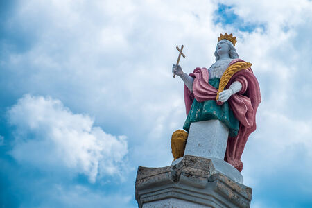 Statue of a saint in the south of Italy Stock Photo
