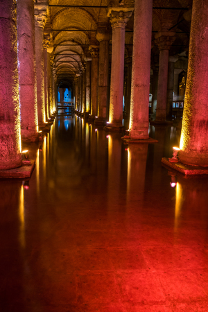 The famous subterranean Basilica cistern in Istanbul