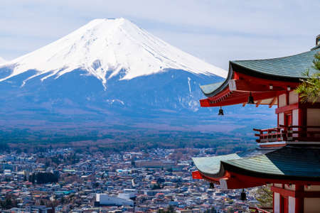 View of the majestic mount Fuji in Japan Editorial
