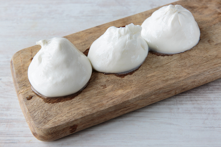 apulia: Fresh delicious burrata cheese typical from Apulia region, Italy