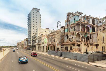 habana: The famous iconic Malecon in La Habana, Cuba Editorial