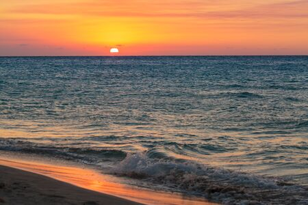 varadero: Spectacular sunset on the famous Varadero sand beach in Cuba