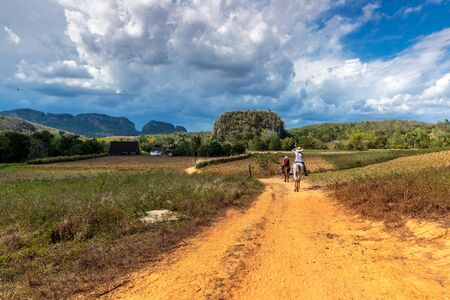 peacefull: The beautiful Vinales valley in the north of Cuba
