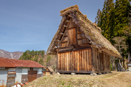 gifu: The beautiful site of Shirakawa-go in the Gifu prefecture of Japan Stock Photo