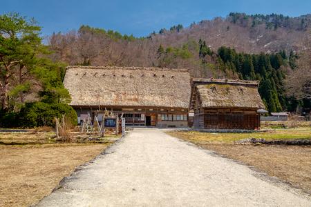 traditional house: The beautiful site of Shirakawa-go in the Gifu prefecture of Japan Stock Photo