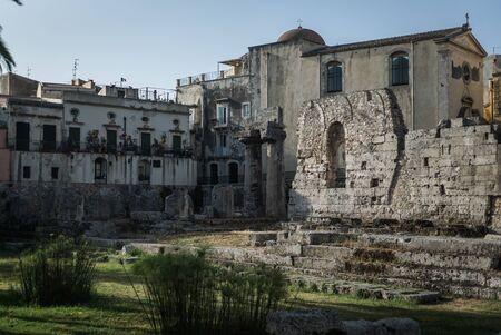 ortigia: The wonderful village of Ortigia, Siracusa in east of Sicily Stock Photo