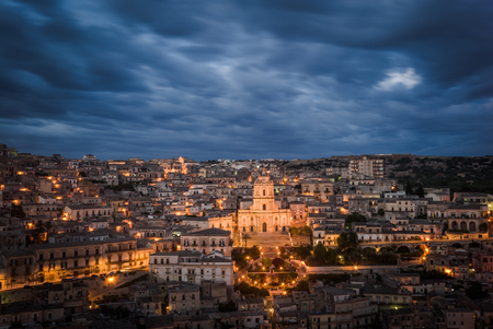 sicilia: Wonderful view over the village of Modica in the south of Sicily, ITaly.
