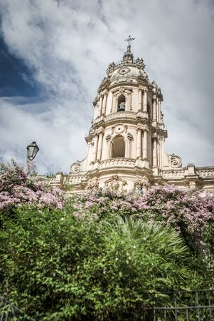 sicilia: Wonderful view of the Saint George cathedral in Modica, Sicily