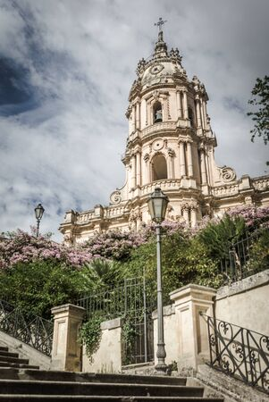 george: Wonderful view of the Saint George cathedral in Modica, Sicily