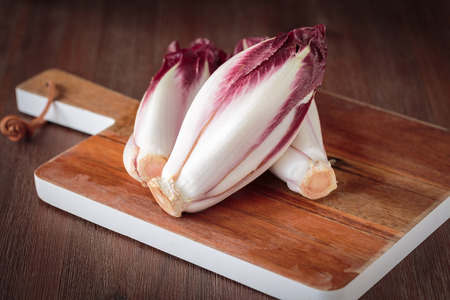 endive: Fresh red endive Stock Photo