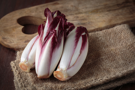 endive: Fresh red endive for an healthy nutrition Stock Photo