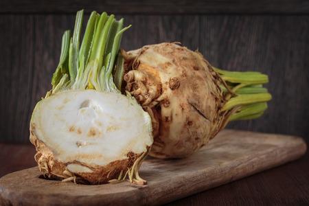 신선한 원시 celeriac 스톡 콘텐츠