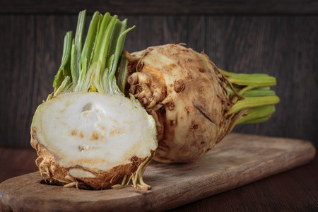 Fresh raw celeriac