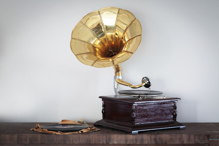 Beautiful vintage phonograph to listen to vynils