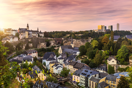 De mooie stad Luxemburg in Europa Stockfoto