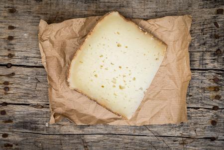 Fetta di formaggio pecorino fresco da Italia Archivio Fotografico - 64543244