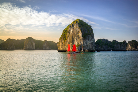 The wonderful Halong Bay, in Vietnam