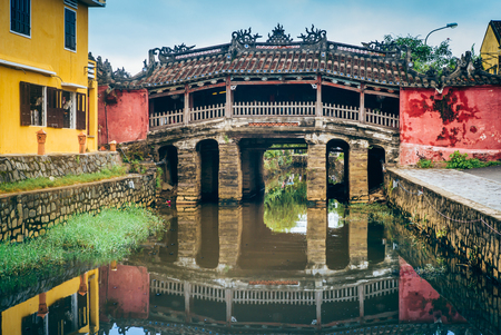 The wonderful Chinese bridge in Hoi An, Vietnam