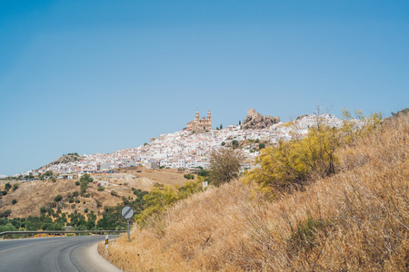 The wonderful white village of Olvera in Andalusia Editorial
