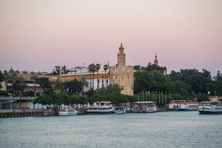 The Guadalquivir river of Seville in Andalusia, Spain