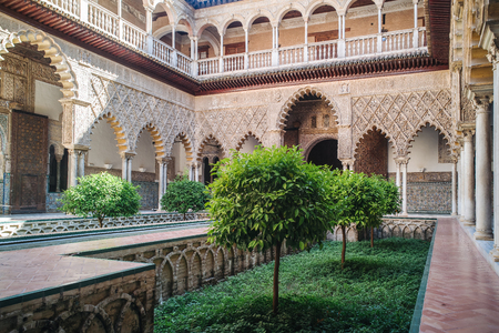 seville: Amazing example of the moorish architecture in Seville Editorial