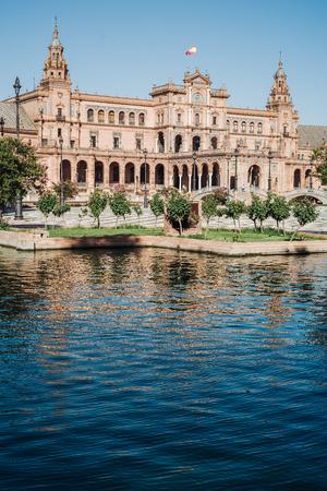 The wonderful  Plaza de Espana in Seville, Andalusia, Spain Stock Photo