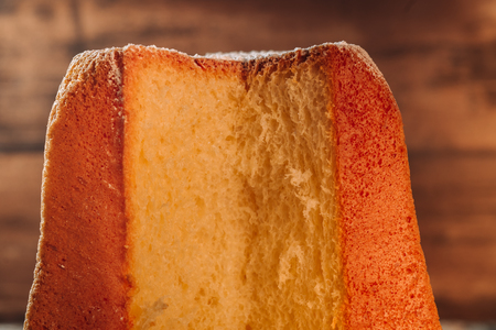 Traditional italian Pandoro cake to celebrate Christmas holidays