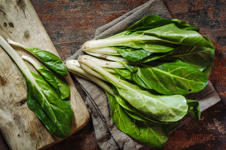 Fresh raw swiss chards vegetables