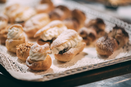 Making of delicious italian pastries from Puglia region Banque d'images