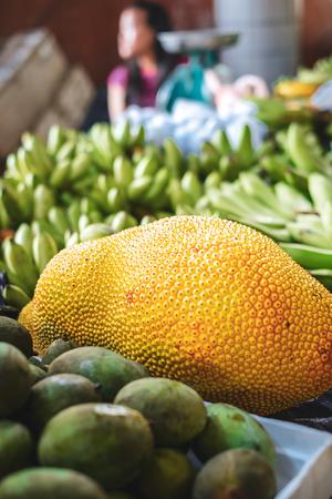 Jack fruit at the local street food market Stok Fotoğraf