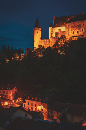 The wonderful castle of Vianden, a little village in Luxembourg Stock Photo