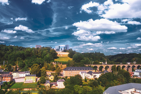 Wonderful view over the Pfaffenthal valley in the city of Luxembourg