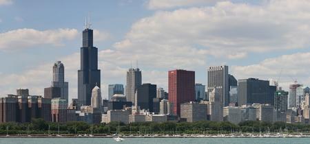 windy city: Ciudad de los Vientos de Chicago, Illinois