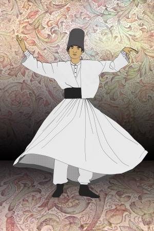 sufi: Mevlevi Sufi Whirling Dervishes Dancing Stock Photo