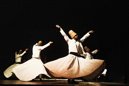 oscillation: Whirling Dervish Dancing  Editorial