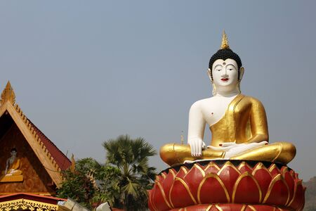 consecrated: Big Buddha statue in Thailand Buddha Temple Stock Photo