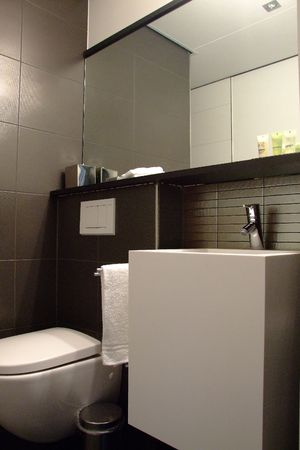 shower stall: modern bathroom Stock Photo