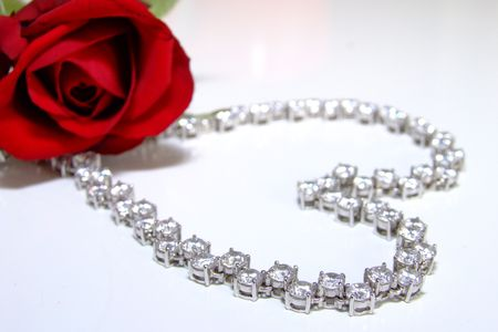 diamond necklace: diamond necklace Stock Photo