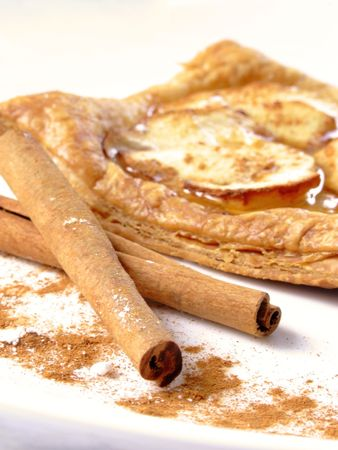 apple puff pastry with cinnamon photo