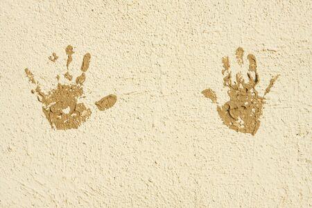 cave painting: Cueva de la pintura en una pared en la ciudad