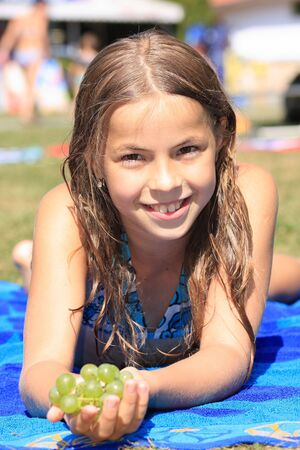 nine years old: Beautiful nine years old �pretty lady�