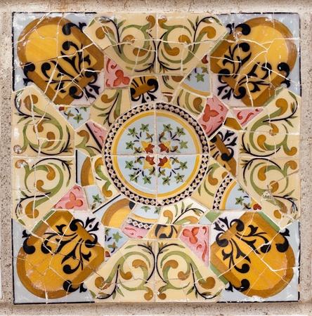 A interesting patterns Mota Barcelona Park Guell Stock Photo - 8464029