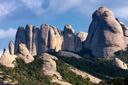 A special shaped rocks in the Monserrate (Spain) photo