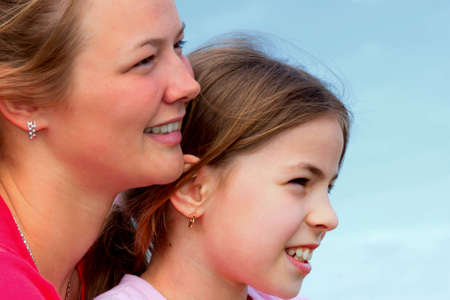 Beautiful, young sisters enjoy the life  photo