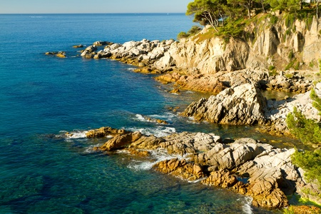 Detail of the Spanish coast (Costa Brava) photo