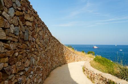 cornering: Beautiful curved road on the Spanish coast
